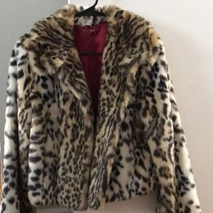 Express Faux Fur Leopard Jacket!